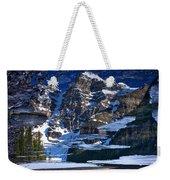 Moraine Lake Reflection Abstract Weekender Tote Bag