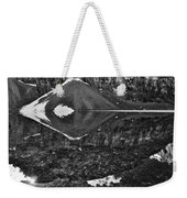 Moraine Lake Reflections - Black And White Weekender Tote Bag