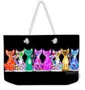 More Colorful Kitties Weekender Tote Bag