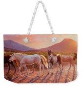 More Than Light Arizona Sunset And Wild Horses Weekender Tote Bag