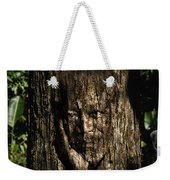 Morgan Freeman Roots Digital Painting Weekender Tote Bag by Georgeta Blanaru