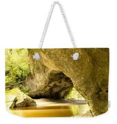 Moria Gate Arch In Opara Basin On South Island Of Nz Weekender Tote Bag