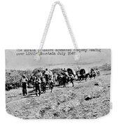 Mormon Pioneers Weekender Tote Bag by Benjamin Yeager