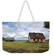 Mormon Row Historic District In Grand Tetons National Park-wyoming Weekender Tote Bag