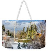 Morning After The Ice Storm Weekender Tote Bag