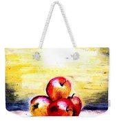 Morning Apples Weekender Tote Bag