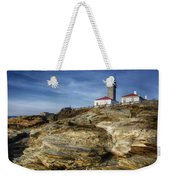 Morning At Beavertail Lighthouse Weekender Tote Bag