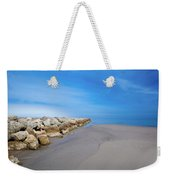 Morning At The Jetty Weekender Tote Bag