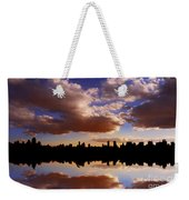 Morning At The Reservoir New York City Usa Weekender Tote Bag