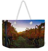 Morning At The Vineyard Weekender Tote Bag by Bill Gallagher