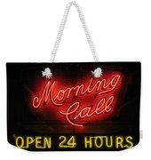 Morning Call Neon - New Orleans La Weekender Tote Bag