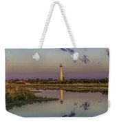 Morning Clouds At Cape May Light Weekender Tote Bag