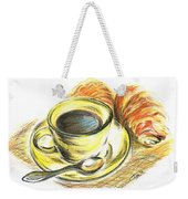 Morning Coffee- With Croissants Weekender Tote Bag
