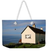 Morning Cottage At Lyme Regis Weekender Tote Bag