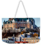 Morning Dawns Over The Chateau Frontenac Weekender Tote Bag