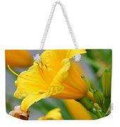 Morning Daylilies Weekender Tote Bag