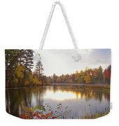 Morning Fog On The Lake Weekender Tote Bag