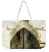 Morning Fog Queen Mary Ocean Liner Bow 03 Long Beach Ca Photo Art 02 Weekender Tote Bag