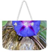 Morning Glory On The Fence Weekender Tote Bag