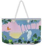 Morning Heron Weekender Tote Bag