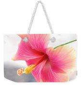 Morning Hibiscus In Gentle Light - Square Macro Weekender Tote Bag