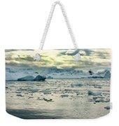 Morning Ice Flow Weekender Tote Bag