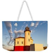 Morning Light At Coquille River Lighthouse Weekender Tote Bag