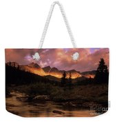 Morning Light Maligne Pass Weekender Tote Bag