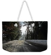 Morning Light On The Road Weekender Tote Bag