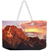 Morning Light On The Tetons Weekender Tote Bag by Marty Koch
