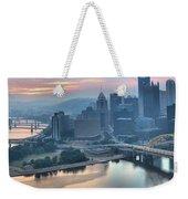 Morning Light Over The City Of Bridges Weekender Tote Bag