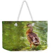 Morning Mallard Weekender Tote Bag