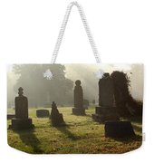 Morning Mist At The Cemetery Weekender Tote Bag