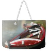 Morning Mist On The Arno River Italy Weekender Tote Bag
