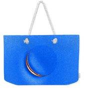 Morning Moon Blue Weekender Tote Bag