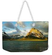 Morning Mountains At Many Glacier Weekender Tote Bag