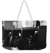 Morning News - Monochrome Weekender Tote Bag