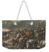 Morning Of The Battle Of Agincourt, 25th October 1415, 1884 Oil On Canvas Weekender Tote Bag