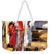 Morning Offerings - Narmada River Source - Amarkantak India Weekender Tote Bag