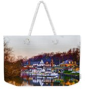 Morning On Boathouse Row Weekender Tote Bag