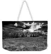 Morning On The Farm Two Bw Weekender Tote Bag