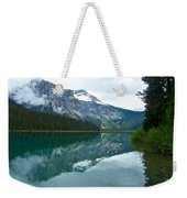 Morning Reflection In Emerald Lake In Yoho National Park-british Columbia-canada Weekender Tote Bag