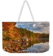 Morning Reflection Of Fall Colors Weekender Tote Bag