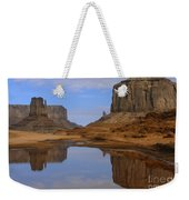 Morning Reflections In Monument Valley Weekender Tote Bag