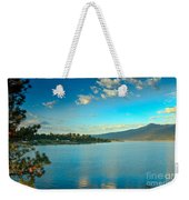 Morning Reflections On Lake Cascade Weekender Tote Bag