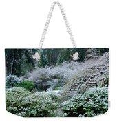 Morning Snow In The Garden Weekender Tote Bag
