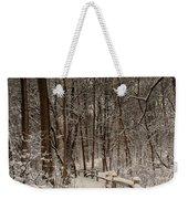 Morning Snow Path Weekender Tote Bag