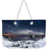Morning Storm At Crater Lake Weekender Tote Bag