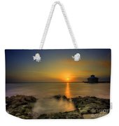 Morning Sun Rising In The Grand Caymans Weekender Tote Bag by Dan Friend