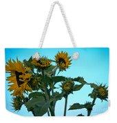 Morning Sunflowers Weekender Tote Bag